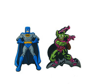 Jibbitz shoe charms for Crocs: Batman and Green Goblin