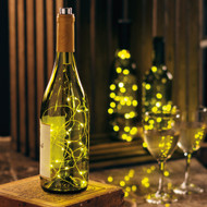 Fairy Lights In A Wine Bottle! Cork And 6 Hour Timer LED Lights On Bendable Wire.