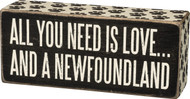Pay tribute to your big, furry best friend with this Newfoundland Dog wood sign from Primitives By Kathy