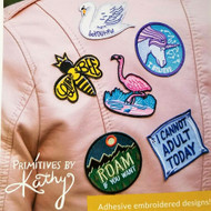 Embroidered Patches from Primitives by Kathy. LOL has done it again!
