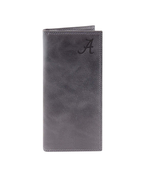 University of Alabama - Grey embossed leather checkbook wallet