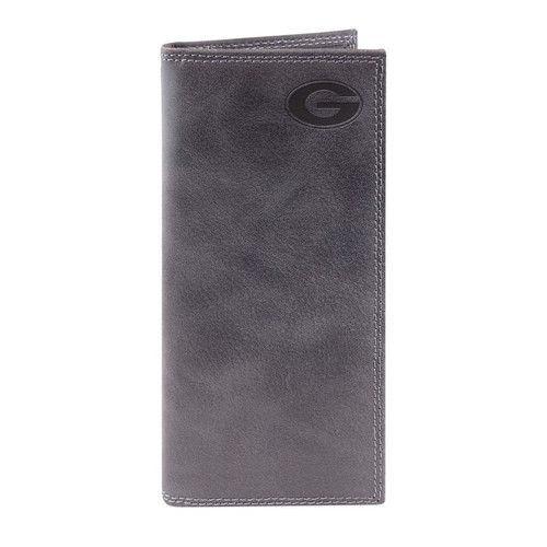 University of Georgia - Grey embossed leather roper wallet. Sic Em' Dawgs!