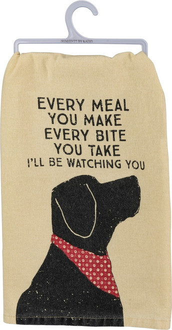Dog Humor! Everyone will relate to this adorable dish towel!