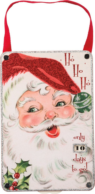 HoHoHo Countdown Santa Door Hanger from Primitives By Kathy Item #32274