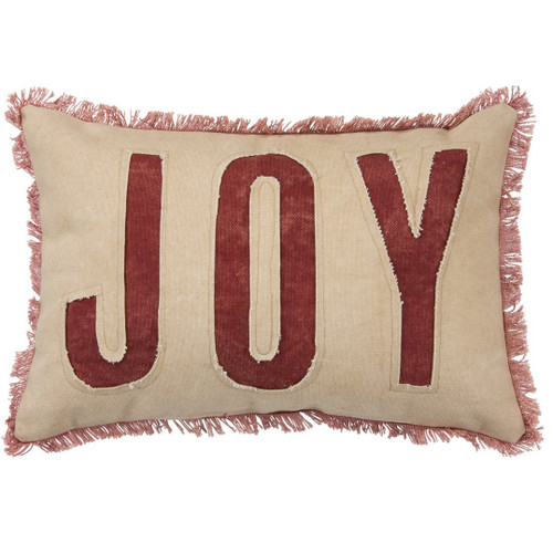 Authentic Primitives By Kathy - Joy Red Christmas Pillow