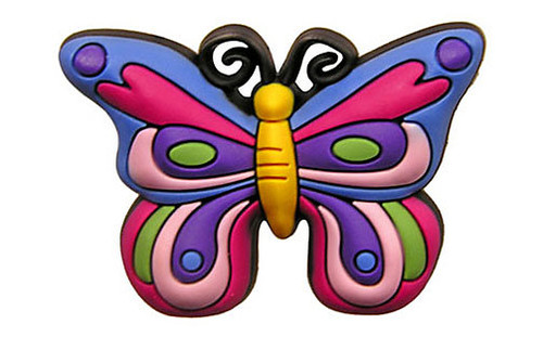 Vibrant Butterfly - Authentic Jibbitz Shoe Charms For Crocs