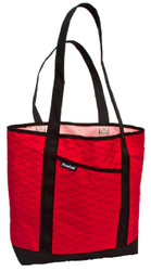 Flowfold Red Tote.  Exceptionally strong.  Large enough to hold all your stuff.  Your arm will wear out before it does!  Also available in Blue, Gray, Yellow and Camo.