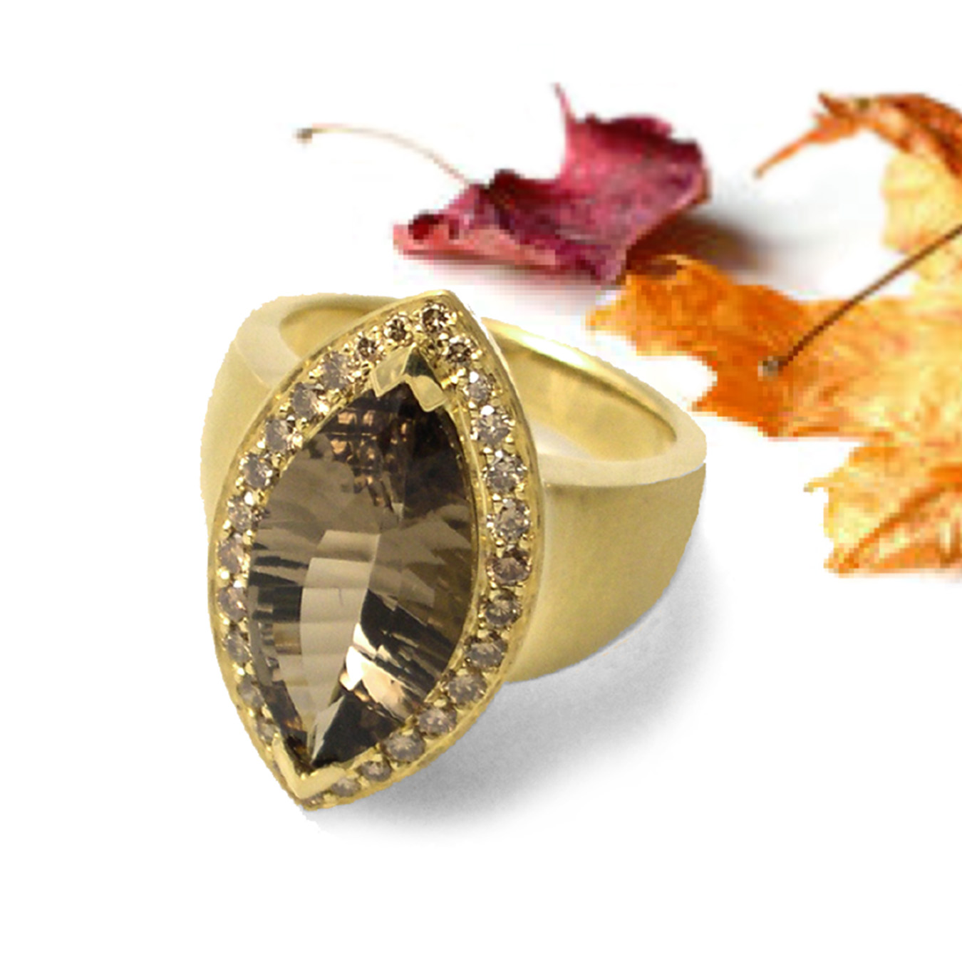 Smoky Quartz Ring from K.Mita | Colors for Thanksgiving