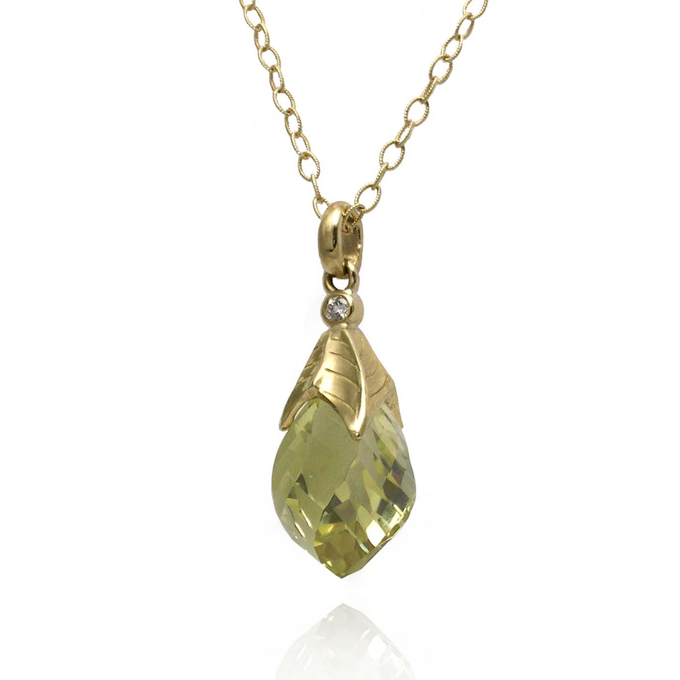 Lemon Quartz Necklace by K.Mita