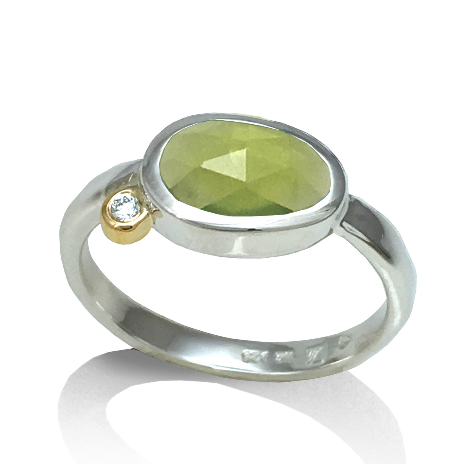 Green Peridot Ring from K.Mita Design | Traditional August Birthstone