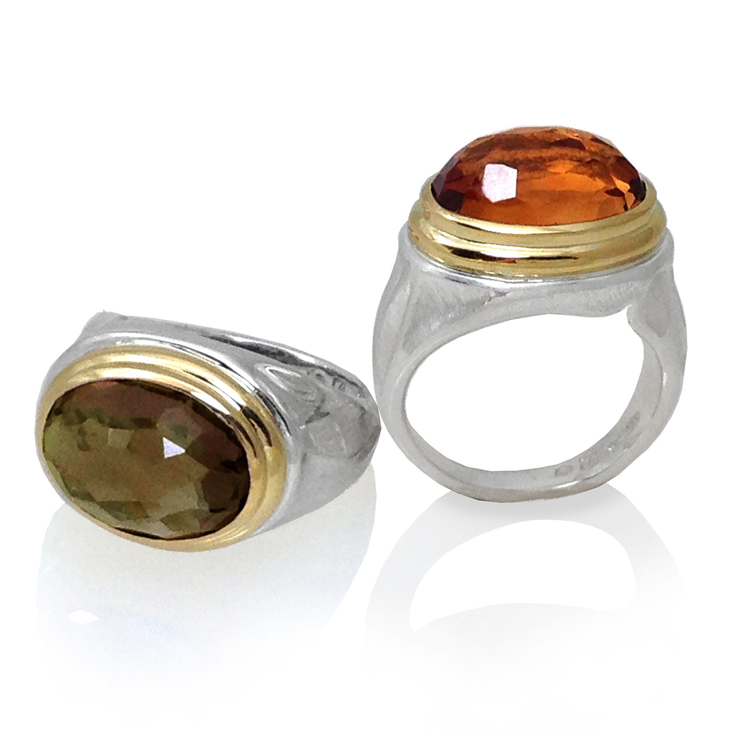 Citrine and Smoky Quartz Rings from K.Mita | Sand Dune Collection