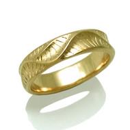 Men's Wave Crest Ring | Yellow Gold | Handmade Bridal Jewelry by K.MITA