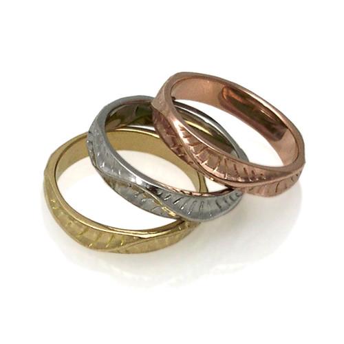 Dune Narrow Bands | Yellow, Rose and White Gold | Handmade Fine Jewelry by K.MITA