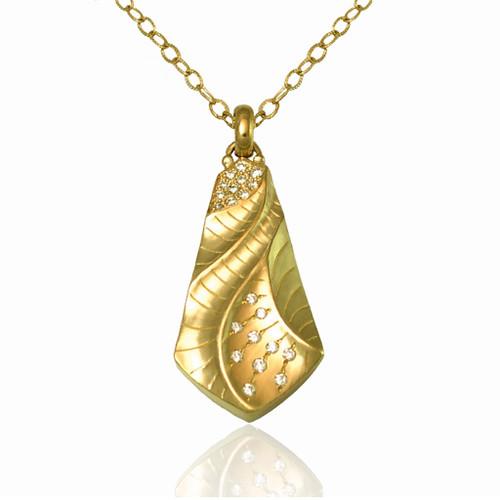 Kite Pendant   Gold and Diamonds   Fine Art Jewelry by K.MITA
