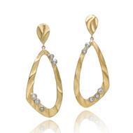 Open Pebble Drop Earrings | Gold and Diamonds | Handmade Fine Jewelry by K.MITA