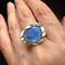 Ocean Dream Ring | Gold, Labradorite and Blue Sapphires | Handmade Fine Jewelry by K.MITA