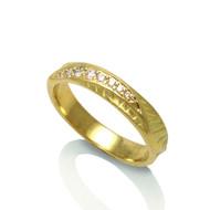 Wave Crest Ring   Gold and Diamonds   Handmade Fine Jewelry By. K.MITA