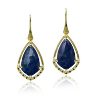 Midnight Earrings | Gold and Blue Sapphire | Modern Fine Jewelry by K.MITA