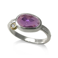 Pebble Ring | Amethyst, Gold and Silver | Modern Jewelry by K.MITA