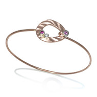 Pebble Bracelet II | Rose Gold and Pink Sapphire|  Modern Art Jewelry by K.Mita