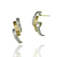 Loop Earrings | Gold and Silver | Handmade Fine Jewelry by K.MITA
