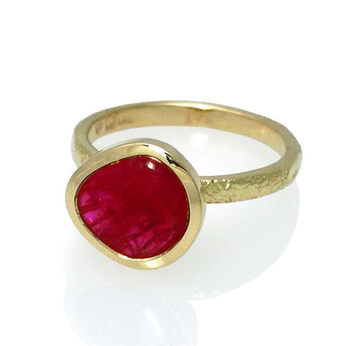 Washi Scarlet Ring by K. Mita, Modern Fine Jewelry