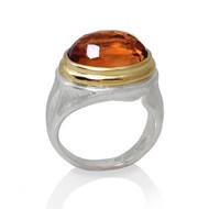Citrine Gemrock Ring | Gold and Argentium Silver | Handmade Fine Jewelry by K.MITA