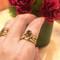 Rebecca Ring   18K Yellow Gold, Pear Shaped Brown Diamond, Write Diamonds   Handmade Fine Jewelry by K.MITA