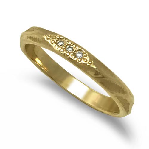 K.Mita Glimmer Band I | Yellow Gold and Diamonds | Handmade Fine Jewelry by K.MITA