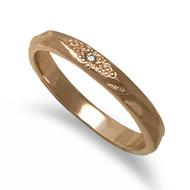 Glimmer Band II | Rose Gold and Diamond | Handmade Fine Jewelry by K.MITA