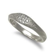 Sandy Ring | White Gold and Diamonds | Handmade Fine Jewelry by K.MITA