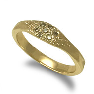 Sandy Ring |Gold and Champagne Diamonds | Handmade Fine Jewelry by K.MITA