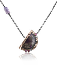 Purple Moon Pendant by K.Mita | Handmade Designer Jewelry