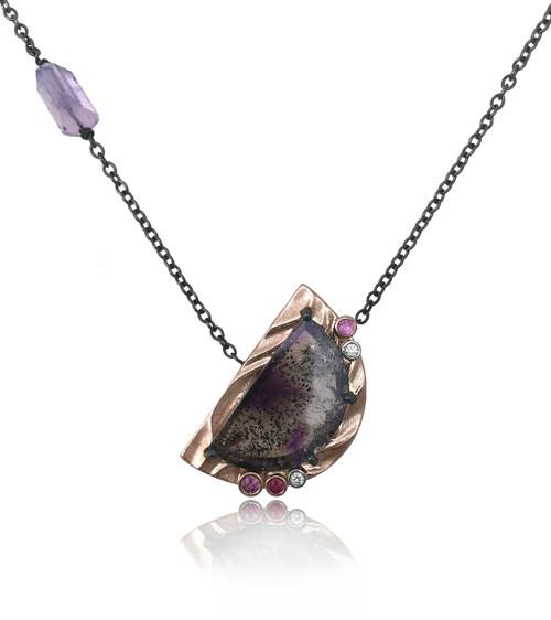 Purple Moon Pendant by K.Mita | Handmade Designer Jewelry