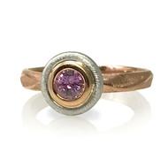 Rose Emma Ring | Gold and Purple Sapphire | Handmade Fine Jewelry by K.MITA