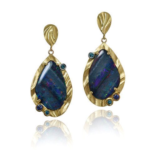K.Mita Opal Aurora Earrings | Sand Dune Collection