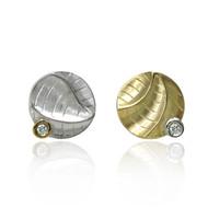 Small Round Studs | Gold, Silver  and Diamonds | Handmade Fine Jewelry by K.MITA