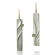 Echo Dangle Earrings | Gold and Silver, Diamond| Handmade Contemporary Jewelry  by K.MITA