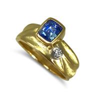 K.Mita's Geo Ring | Blue Sapphire | Handmade Fine Jewelry