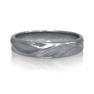 K.Mita's classic Hudson Ring | 14K Palladium White Gold