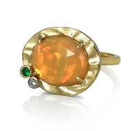 Dreamy Dawn Ring | Gold, Ethiopian Opal| Handmade Fine Jewelry by K.MITA