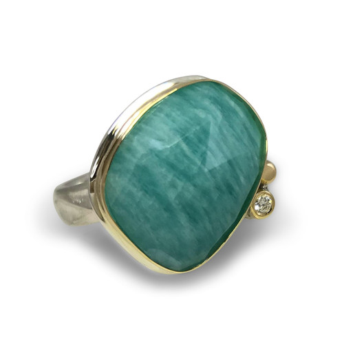 The Kristy Ring by K.Mita | Amazonite