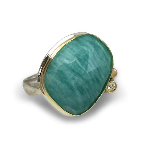 The Kristy Ring by K.Mita | Amazonite | Handmade Designer Jewelry