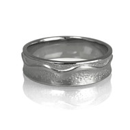 The  East River Ring by K.Mitra | 14k Palladium White Gold