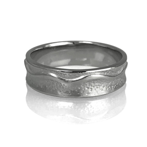 The  East River Ring by K.Mitra   14k Palladium White Gold