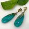 K.Mita's Lagos Earrings | Green-blue Amazonite | Handmade Fine Jewelry