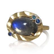 K.Mita's Misty Moon Ring | Moonstone | Handmade Designer Jewelry