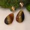 Stripe Earrings by K.MITA | Handmade Modern Jewelry | 14K, Tourmaline and Ruby