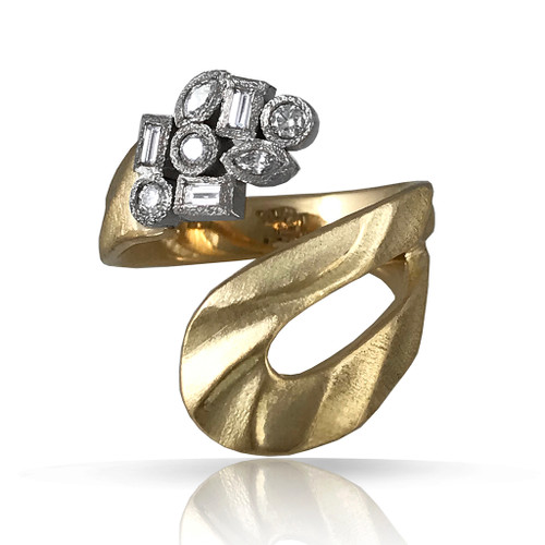 Marlene Ring by K.MITA | 18K Yellow Gold, Diamonds | Handmade Fine Jewelry