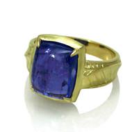 Iris Ring | Tanzanite and Gold | Handmade Fine Jewelry by K.MITA
